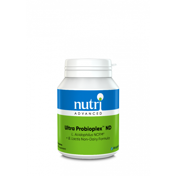 Ultra Probioplex ND Dairy Free Probiotic - 60 Capsules Label