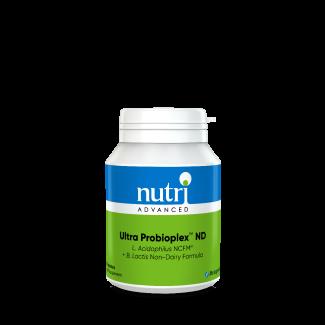 Ultra Probioplex ND Dairy Free Probiotic - 60 Capsules Label